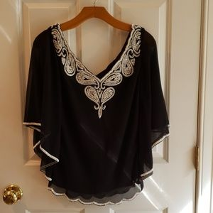 J KARA Beaded Blouse